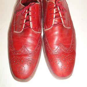 Johnston & Murphy Red Leather Wingtip Oxford